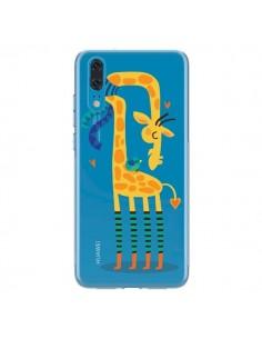 Coque Huawei P20 L'oiseau et la Girafe Amour Love Transparente - Maria Jose Da Luz