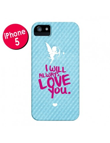 Coque I will always love you Cupidon pour iPhone 5 et 5S - Javier Martinez