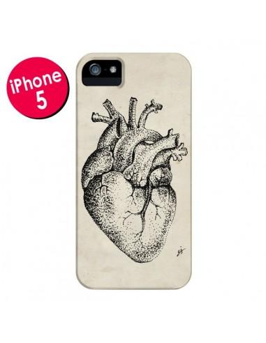 Coque Coeur Vintage pour iPhone 5 et 5S - Tipsy Eyes