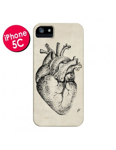 Coque Coeur Vintage pour iPhone 5C - Tipsy Eyes