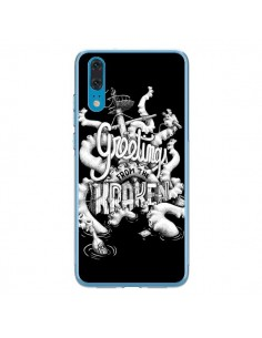 Coque Huawei P20 Greetings from the kraken Tentacules Poulpe - Senor Octopus