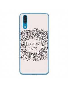 Coque Huawei P20 Because Cats chat - Santiago Taberna