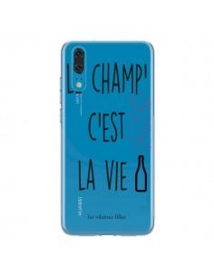 Coque Huawei P20 Le Champ, c'est la Vie Transparente - Les Vilaines Filles