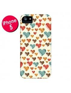 Coque Coeurs ColorŽs pour iPhone 5 et 5S - Eleaxart