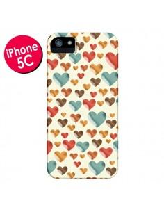 Coque Coeurs ColorŽs pour iPhone 5C - Eleaxart