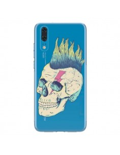 Coque Huawei P20 Tête de Mort Crane Punk Transparente - Victor Vercesi