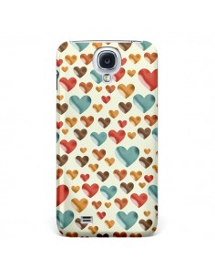 Coque Coeurs ColorŽs pour Samsung Galaxy S4 - Eleaxart