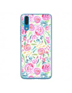 Coque Huawei P20 Speckled Watercolor Pink - Ninola Design