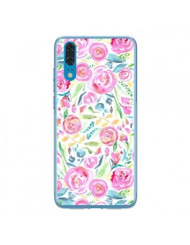 Coque Huawei P20 Speckled Watercolor Pink - Ninola Design