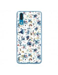Coque Huawei P20 Watery Hibiscus Blue - Ninola Design