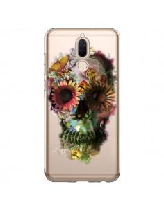 Coque Huawei Mate 10 Lite Skull Flower Tête de Mort Transparente - Ali Gulec