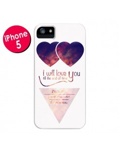 Coque I will love you until the end Coeurs pour iPhone 5 et 5S - Eleaxart