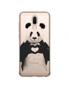 Coque Huawei Mate 10 Lite Panda All You Need Is Love Transparente - Balazs Solti