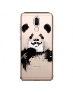 Coque Huawei Mate 10 Lite Funny Panda Moustache Transparente - Balazs Solti