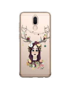 Coque Huawei Mate 10 Lite Christmas Girl Femme Noel Bois Cerf Transparente - Chapo