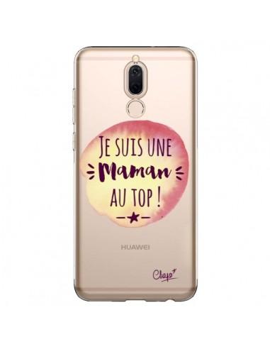 Coque Huawei Mate 10 Lite Je suis une Maman au Top Orange Transparente - Chapo