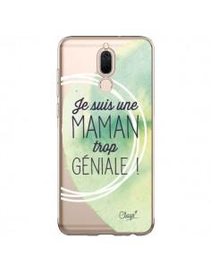 Coque Huawei Mate 10 Lite Je suis une Maman trop Géniale Vert Transparente - Chapo