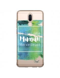Coque Huawei Mate 10 Lite Je suis une Maman Merveilleuse Bleu Vert Transparente - Chapo