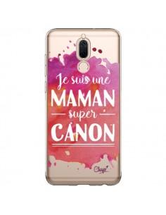 Coque Huawei Mate 10 Lite Je suis une Maman super Canon Rose Transparente - Chapo