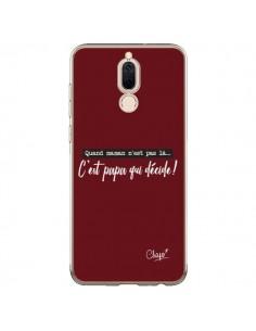Coque Huawei Mate 10 Lite C'est Papa qui Décide Rouge Bordeaux - Chapo