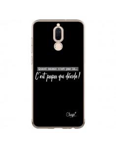 Coque Huawei Mate 10 Lite C'est Papa qui Décide Noir - Chapo