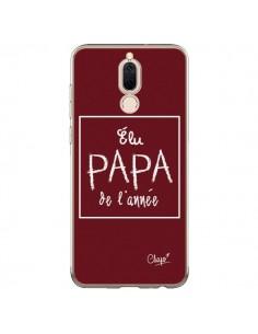 Coque Huawei Mate 10 Lite Elu Papa de l'Année Rouge Bordeaux - Chapo