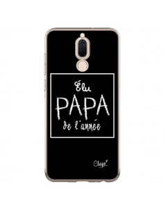 Coque Huawei Mate 10 Lite Elu Papa de l'Année Noir - Chapo
