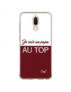 Coque Huawei Mate 10 Lite Je suis un Papa au Top Rouge Bordeaux - Chapo