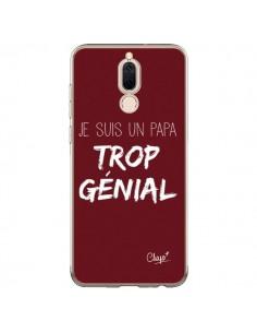 Coque Huawei Mate 10 Lite Je suis un Papa trop Génial Rouge Bordeaux - Chapo