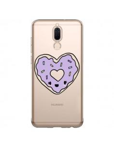 Coque Huawei Mate 10 Lite Donuts Heart Coeur Violet Transparente - Claudia Ramos
