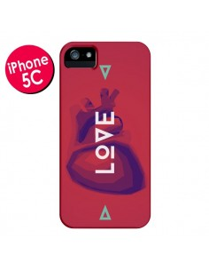 Coque Love Coeur Triangle Amour pour iPhone 5C - Javier Martinez