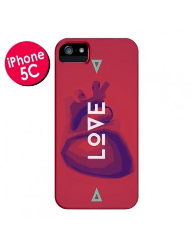 Coque Love Coeur Triangle Amour pour iPhone 5C - Javier Martinez