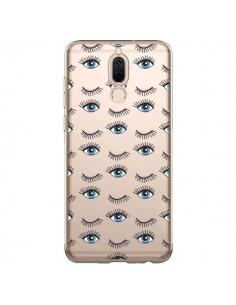 Coque Huawei Mate 10 Lite Eyes Oeil Yeux Bleus Mosaïque Transparente - Léa Clément