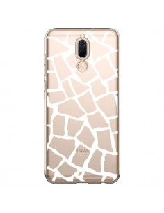 Coque Huawei Mate 10 Lite Girafe Mosaïque Blanc Transparente - Project M