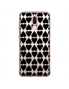 Coque Huawei Mate 10 Lite Coeurs Heart Noir Transparente - Project M