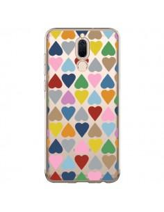 Coque Huawei Mate 10 Lite Coeurs Heart Couleur Transparente - Project M