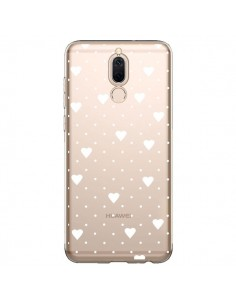 Coque Huawei Mate 10 Lite Point Coeur Blanc Pin Point Heart Transparente - Project M