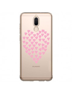Coque Huawei Mate 10 Lite Coeurs Heart Love Rose Pink Transparente - Project M