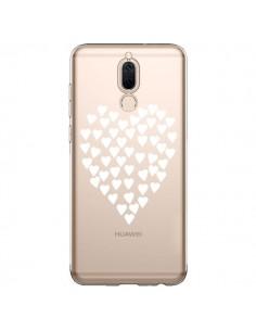 Coque Huawei Mate 10 Lite Coeurs Heart Love Blanc Transparente - Project M