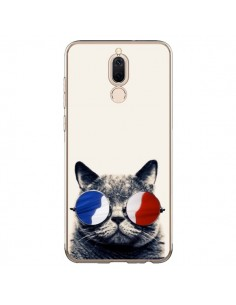 Coque Huawei Mate 10 Lite Chat à lunettes françaises - Gusto NYC