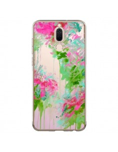 Coque Huawei Mate 10 Lite Fleur Flower Rose Vert Transparente - Ebi Emporium