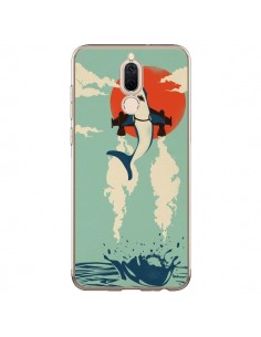 Coque Huawei Mate 10 Lite Requin Avion Volant - Jay Fleck