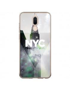 Coque Huawei Mate 10 Lite I Love New York City Gris Violet Vert - Javier Martinez