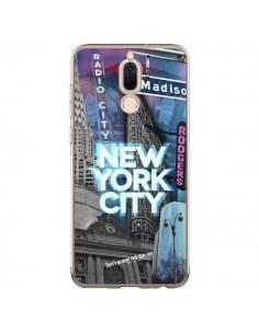 Coque Huawei Mate 10 Lite New York City Buildings Bleu - Javier Martinez