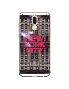 Coque Huawei Mate 10 Lite New York City Buildings Rouge - Javier Martinez
