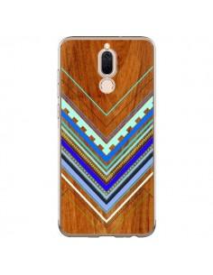 Coque Huawei Mate 10 Lite Azteque Arbutus Blue Bois Aztec Tribal - Jenny Mhairi