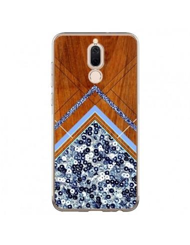 Coque Huawei Mate 10 Lite Sequin Geometry Bois Azteque Aztec Tribal - Jenny Mhairi