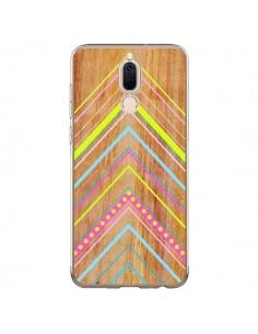 Coque Huawei Mate 10 Lite Wooden Chevron Pink Bois Azteque Aztec Tribal - Jenny Mhairi