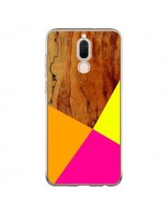 Coque Huawei Mate 10 Lite Wooden Colour Block Bois Azteque Aztec Tribal - Jenny Mhairi