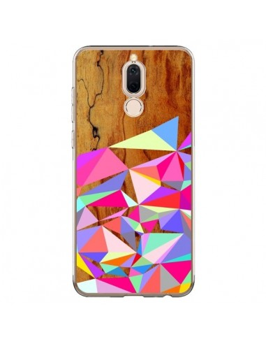 Coque Huawei Mate 10 Lite Wooden Multi Geo Bois Azteque Aztec Tribal - Jenny Mhairi